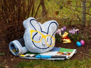Plotterdatei Nerd Bunny DinDin Handmade Kissen 10