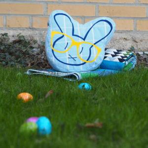 Plotterdatei Nerd Bunny DinDin Handmade Kissen 11