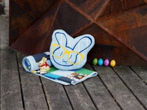Plotterdatei Nerd Bunny DinDin Handmade Kissen titel