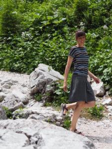 Schnittmuster nähen Frau Antje Shirt Lilla nähen 3