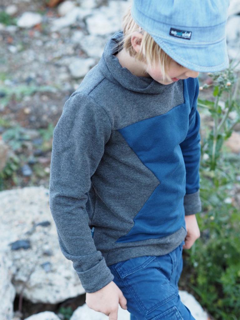 Schnittmuster nähen shirt kuschelkragen lillesol und pelle 8