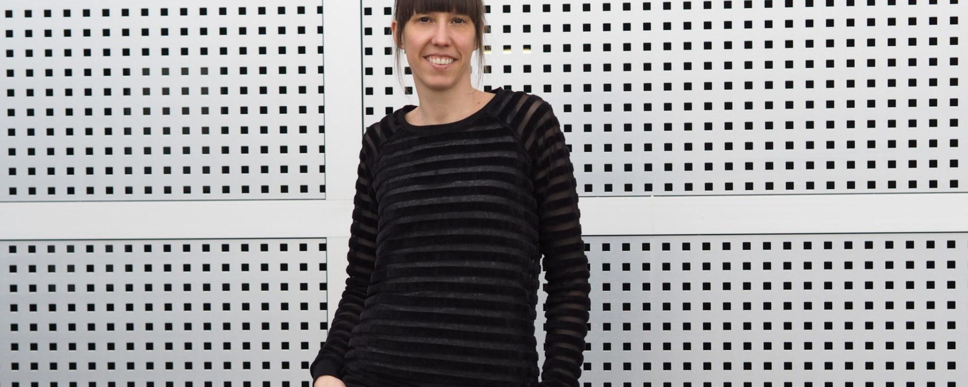 Schnittmuster Tante Hertha nähen Lebenskleidung Nicki Streifen 11