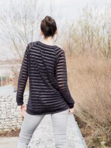 Schnittmuster Tante Hertha nähen Lebenskleidung Nicki Streifen 2