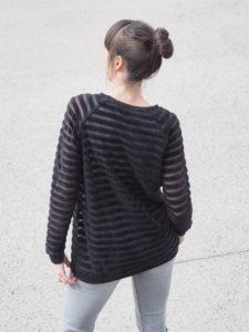 Schnittmuster Tante Hertha nähen Lebenskleidung Nicki Streifen 5