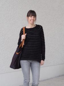 Schnittmuster Tante Hertha nähen Lebenskleidung Nicki Streifen 7