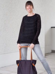 Schnittmuster Tante Hertha nähen Lebenskleidung Nicki Streifen 9