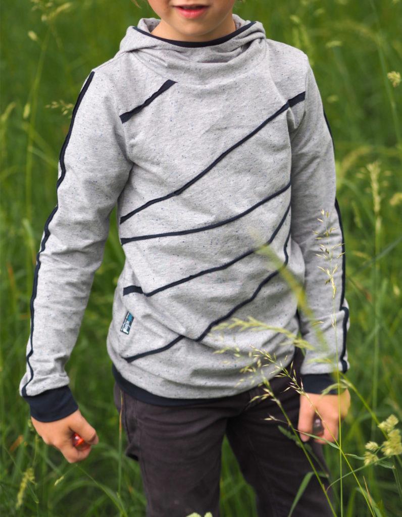 Schnittmuster Zauberlehrling Hood nähen lebenskleidung Neps Jersey 1
