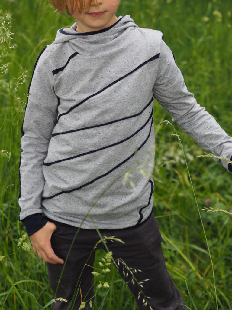 Schnittmuster Zauberlehrling Hood nähen lebenskleidung Neps Jersey 3