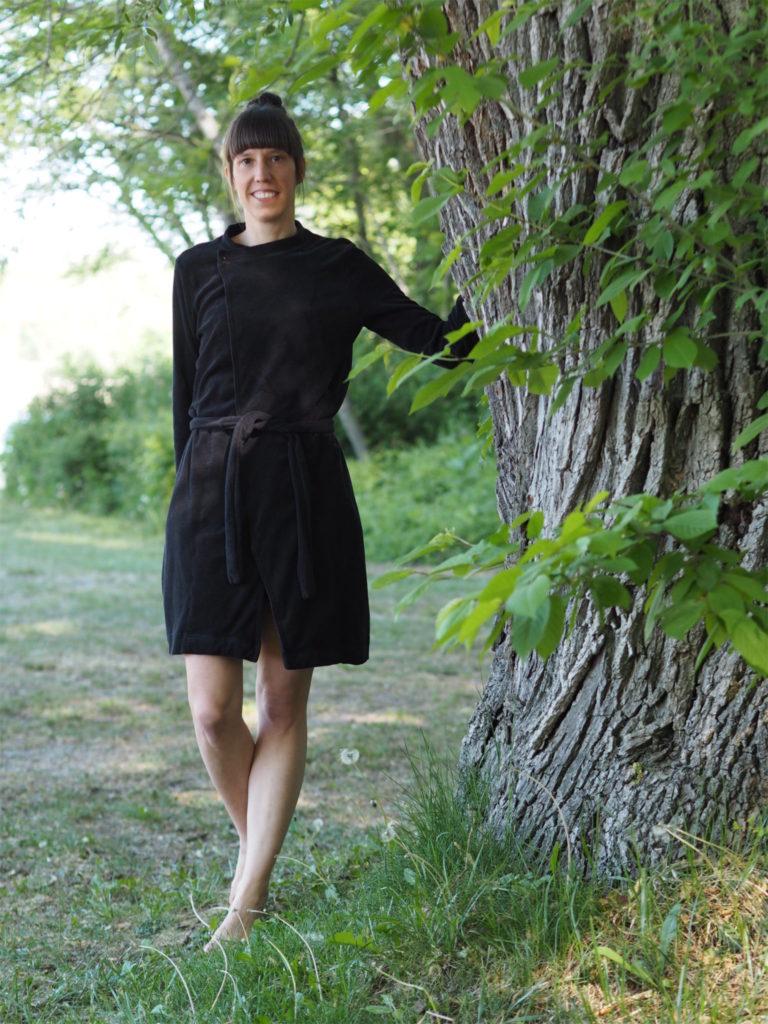 Schnittmuster nähen Schnittduett Cardigan Wrapped Lebenskleidung Frottee 1