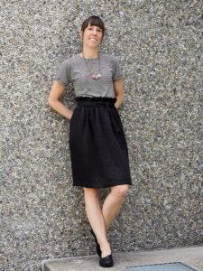Paperbag skirt rock nähen diy 10