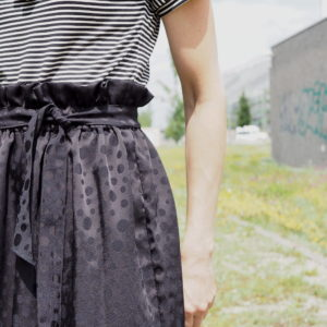 Paperbag skirt rock nähen diy 7