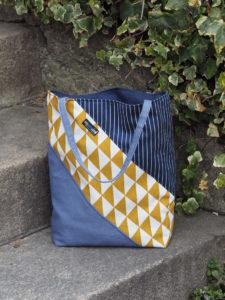 Tasche in Pastelltönen Lillesol Und Pelle Buch Basics aus Webware nähen 6