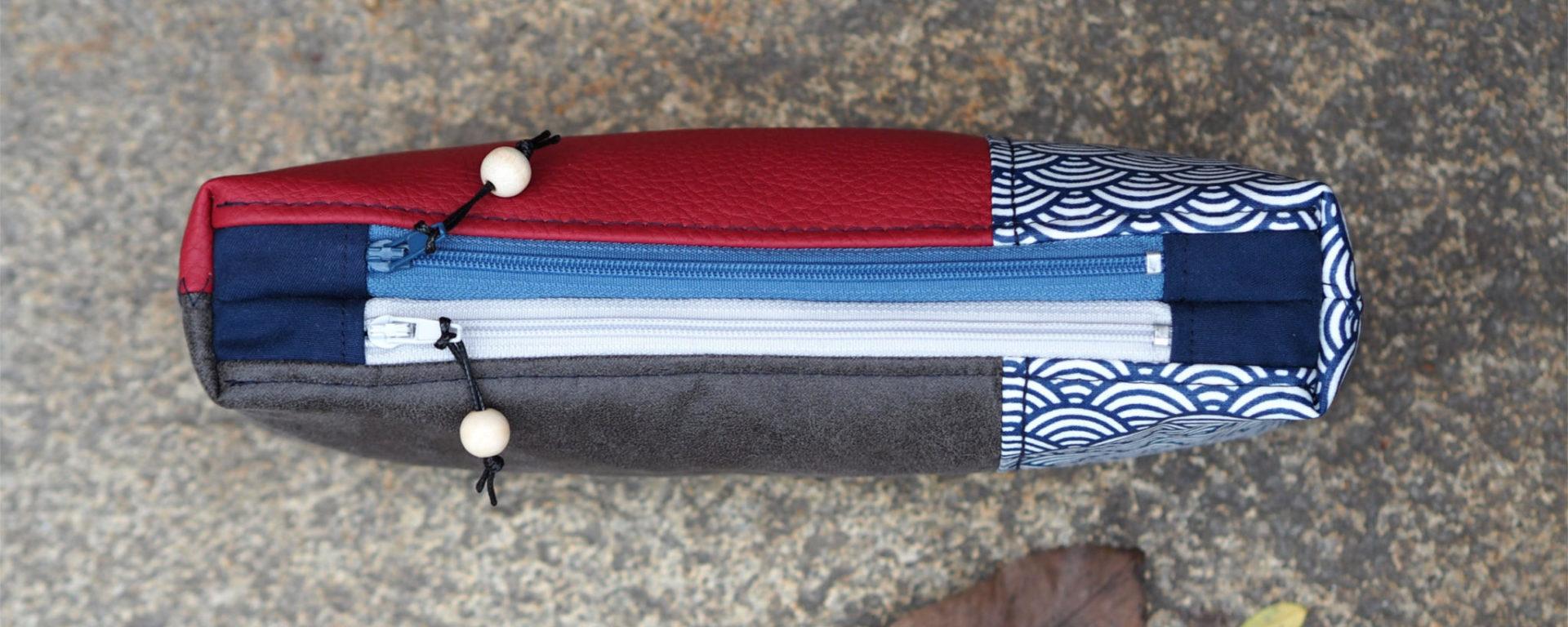 Tutorial Doppel Reißverschluss Täschchen weisnähschen nähen 12
