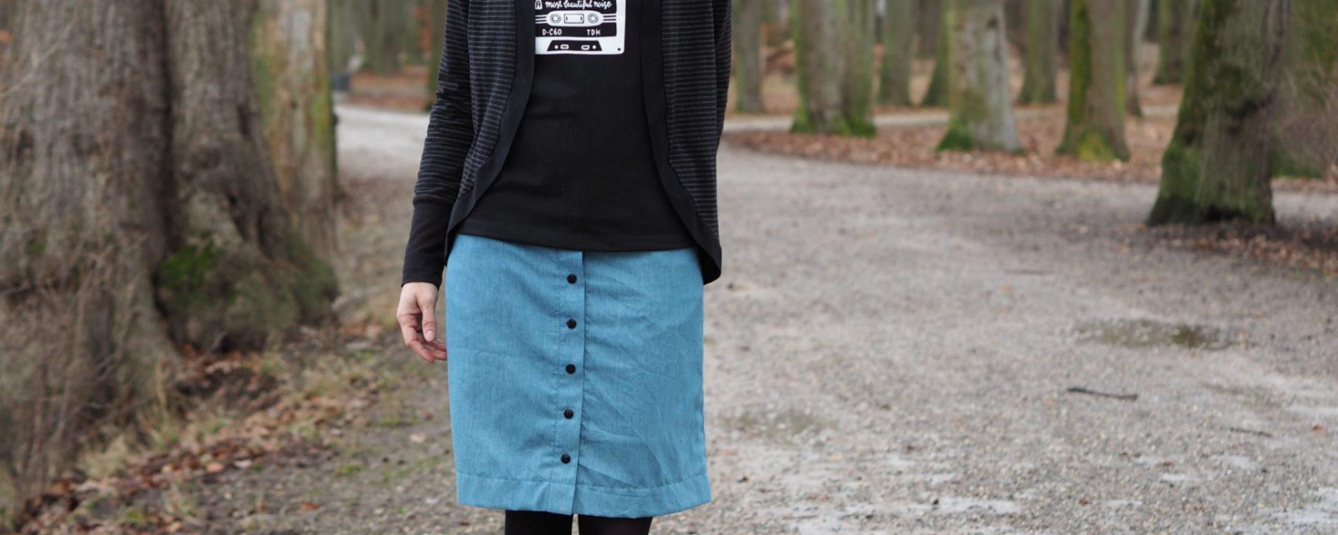 Jeans Knopfrock Weisnähschen
